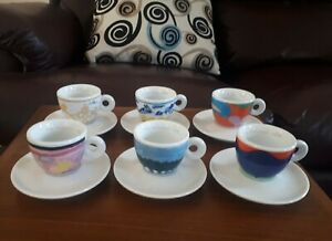 illy Art Collection 1994 Espresso Cups - Richard Ginori - Set of Six Cups