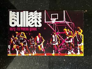 1972-1973 Baltimore Bullets NBA Basketball Media Guide