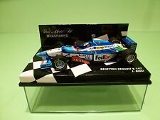 MINICHAMPS 1:43 - BENETTON RENAULT B 197    J.ALESI  -  FEDEX VERSION -  NMIB