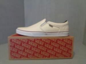 Vans Asher Men's Skate Shoes S/O NIB NEW Off White/Ivory Sizes Think Boat COMFY