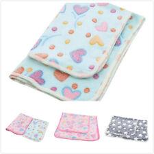 Cushion Pet Dog Cat Blanket Quilt Star Heart Printed Velvet Coral Fleece Mat Cf