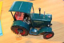 Vecchio Lamiera Trattore Hanomag R40 con Meccanica 16cm Usato Sammler Deco Pezzi