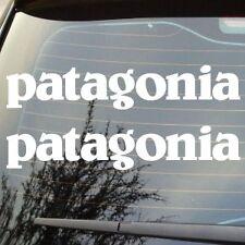 "2 X BRAND NEW 7"" PATAGONIA LOGO SKATE SURF SPONSOR CAR LAPTOP LOGO STICKER DECAL"