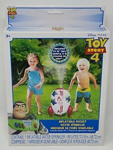 """Toy Story 4 Inflatable Rocket Water Sprinkler BRAND NEW 18"""" Tall!"""
