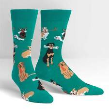 Chew on This Dress Crew Socks New Men Size 7-13 Sock It To Me Puppy Dog Fashion