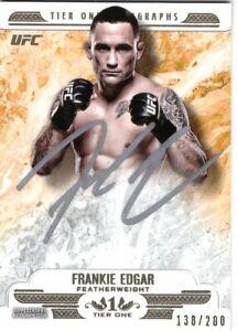 Frankie Edgar 2017 UFC Knockout Tier One Autograph Card #138/200