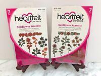 Lot Set Heartfelt Creations Dies+Stamps ~ Sunflower Accents, HCD1-7153+HCPC3799