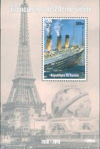 Guinea RMS Titantic stamp Mini block 1998 MNH