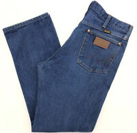 vtg 90s WRANGLER Jeans Mens 33x30 Distressed Faded workwear grunge cowboy USA