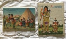 Vintage Indian Puzzles (2).  Native Americans and the Singer, and Playskool.