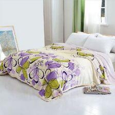 Solaron Korean Blanket throw Original Mink silky king size Floral purple Spring
