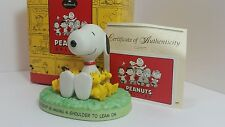 "Snoopy Peanuts porcelain statue figurine ""Friendly Shoulder"" QPC4069 Hallmark j"