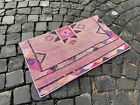 Doormats, Handmade vintage rug, Wool rug, Turkish rug, Carpet   1,4 x 2,4 ft