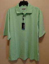 NWT Men's Kirkland S/S Green Polo Shirt Size Large