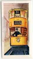 Kingsway Subway Double Decker Tram London England Vintage Trade Ad Card