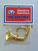 Civil War Brass Infantry Horn Kepi Badge / Pin/Ornament /Insignia Repo PBAG1622