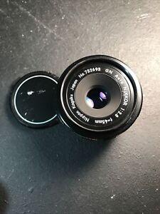 Nikon GN Nikkor 45mm f/2.8 Auto Pancake Prime Standard Lens - EXCELLENT