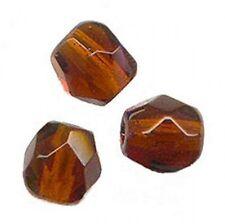 50 Perles Facettes cristal de boheme 4mm - SMOKED TOPAZ