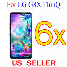 6x Clear LCD Screen Protector Guard Cover Shield Film For LG G8X ThinQ  6.4""