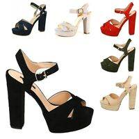 Damen Sandaletten Pantoletten Keilabsatz Party High Heels Glitzer 830739 Schuhe