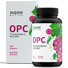 OPC Traubenkernextrakt 240 Kapseln MonteNativo 800 mg Hergestellt in Detuschland