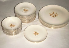 29 PIECE TAYLOR SMITH TAYLOR GOLDEN WHEAT VERSATILE CHINA PORCELAIN GOLD TRIM