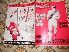 CALCIO RIVISTA SUPERCALCIO ANNO II N15 POSTER CHIARUGI 14-4-1970 ENNA ROZZANO
