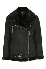Topshop Faux Shearling Biker Jacket UK14 BNWT 85£