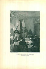 1897 Napoleon Bonaparte Dictating To His Secretaries Fireplace Candles PRINT