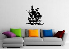 Wall Sticker Vinyl Decal Nursery Pirates Ship Ocean Marine for Kids (ig1191)