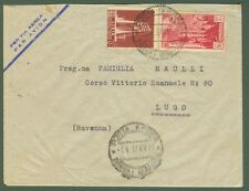 LIBIA. Lettera per via aerea del 5.4.37 da Tripoli per Lugo (Ravenna).
