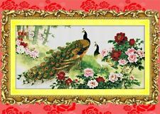"""""""Peacock and Peony""""counted cross stitch kits"""