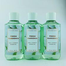 3-Pack Bath & Body Works FRESH GARDENIA Shower Gel Wash 10 fl.oz