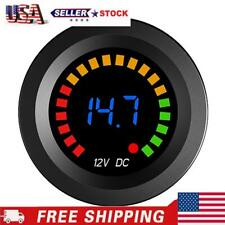 Led Digital Color Display Voltmeter Volt Panel Meter For 12v Car Motorcycle