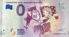 BILLET 0 EURO SINGAPORE 2018 HISTORIC MEETING FRANCE  2018-1 NUMERO  DIVERS
