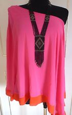 River Island  Amazing One Shoulder Holiday Party Top Tunic size 10-12-14