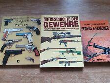 3X Waffen Enzyklopädien und Geschichtsbücher über Waffen - Guter Zustand!