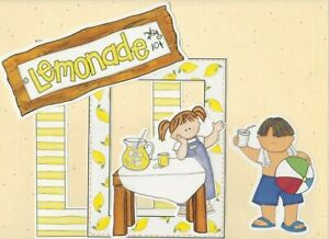 "MY MIND'S EYE FRAME UPS DIE CUT SET  ""LEMONADE STAND""  SUMMER HEAT KIDS"