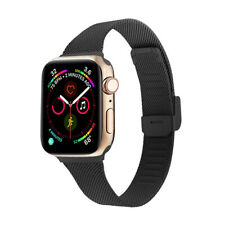 Fashion Milanese Stainless Steel Band Thin Slim Strap For Apple iWatch 5 4 3 2 1