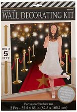 HOLLYWOOD MOVIE Scene Setter WaLL Backdrop Party Room Decoration RED CARPET STAR