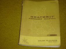 Vintage Heathkit model Gr-227 Color Television Assembly Manual