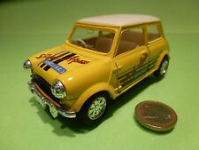 VINTAGE MORRIS MINI COOPER - PARK APEX YELLOW 1:24? RHD - RARE - GOOD PULLBACK