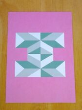 JESSICA HISCHE TYPOGRAPHIC POSTCARD ~ DAILY DROP CAPITAL LETTER I ~ PINK ~ NEW