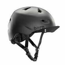 New Bern Brentwood Men Adult Bicycle Helmet w/ Visor MATTE BLACK L/XL: 57-60.5cm