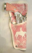 LESLIE HENRY PINK DIE CAST CAP GUN WITH HOLSTER