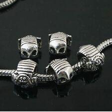 6pcs Tibetan Silver owl face spacer Beads Fit European charm Bracelet  L0046