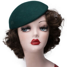 Round Womens Wool Felt Fascinator Pillbox Beret Hat Millinery Base Cocktail A048