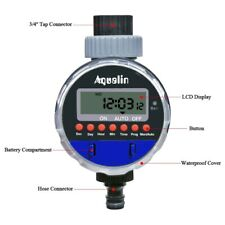Automatic LCD Display Watering Timer Electronic Home Garden Ball Valve Water