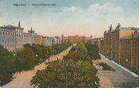 Antike Ansichtskarte München Maximilianstrasse beschrieben 1932