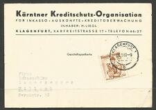AUSTRIA. 1960. COMMERCIAL CARD USED.
